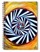 Astral Map Of The World. Black And White Stripes Spiral Notebook