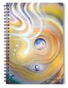 Astral Vision. Earth And Its Energy Spiral Notebook
