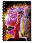 Astroface Firehead Spiral Notebook