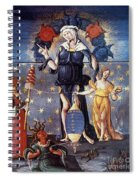 Astrology With Fates Spiral Notebook