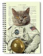 Astronaut Cat Illustration Spiral Notebook