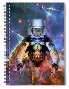 Astronaut Disintegration Spiral Notebook