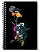Astronaut Ufo Balloon Outer Space Shuttle  Spiral Notebook