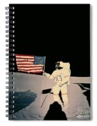 Astronaut With Us Flag On Moon Spiral Notebook