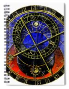 Astronomical Clock In Grunge Style Spiral Notebook