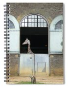Asymmetrical Giraffe  Spiral Notebook