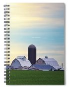 At First Light - Illinois Farmland Spiral Notebook