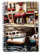 At The Cafe Spiral Notebook