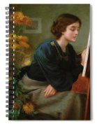 At The Easel  Spiral Notebook