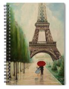 At The Eiffel Tower Spiral Notebook