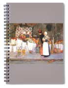 at the florist 1889 Childe Frederick Hassam Spiral Notebook