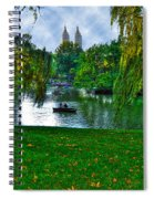 At The Lake In Central Park Spiral Notebook