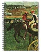 At The Races, Digitally Enhanced, Edgar Degas, Digitally Enhanced Maximum Resolution Spiral Notebook