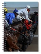 At The Racetrack 1 Spiral Notebook