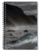 At The Sight Of The Wave Spiral Notebook