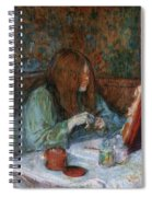 At The Toilet, Madame Poupoule Spiral Notebook