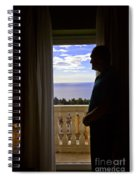 At The Window In Taormina Spiral Notebook