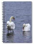 At Your Service. Mute Swan Spiral Notebook