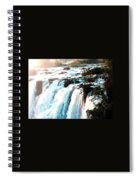 Waterfall Scene For Mia Parker - Sutcliffe L A S Spiral Notebook