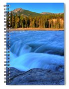 Athabasca Falls In Jasper National Park Spiral Notebook