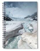Athabasca Glacier, Alberta, Canada Spiral Notebook