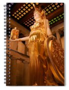 Athena With Nike Spiral Notebook