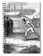 Athletics: Shot Put, 1875 Spiral Notebook