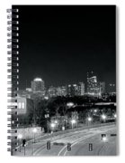 Atlanta Black And White Panorama Spiral Notebook