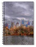 Atlanta City Skyline Georgia Usa Hdr Spiral Notebook