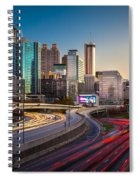 Atlanta Downtown Lights Spiral Notebook