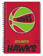 Atlanta Hawks Vintage Basketball Art Spiral Notebook