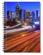 Atlanta Interstate I-85 By Night Spiral Notebook