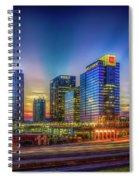 Atlanta Midtown Atlantic Station Starburst Atllanta Georgia Art Spiral Notebook