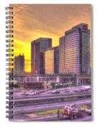 Atlanta Midtown Atlantic Station Sunset Spiral Notebook