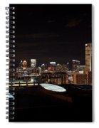 Atlanta Night Skyline Spiral Notebook