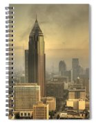 Atlanta Skyline At Dusk Spiral Notebook