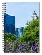 Atlanta Skyline From Atlanta Botanical Garden Spiral Notebook