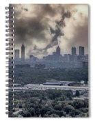 Atlanta Skyline Panoramic Spiral Notebook
