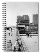 Atlantic City 1920 Boardwalk Promenade, Beach Sand, Signs Apollo Theatre, Mitzi  Spiral Notebook