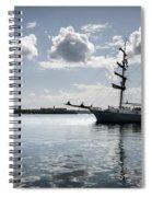 Atlantis - A Three Masts Vessel In Port Mahon Crystaline Water Spiral Notebook
