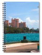 Atlantis Across The Harbor Spiral Notebook