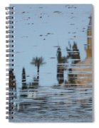 Atmospheric Hala Sultan Tekke Reflection At Larnaca Salt Lake Spiral Notebook