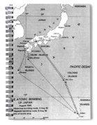 Atomic Bombing Of Japan, 1945 Spiral Notebook