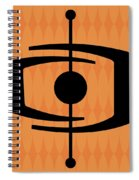 Atomic Shape 1 On Orange Spiral Notebook