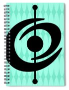 Atomic Shape 2 On Aqua Spiral Notebook