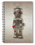 Atomic Tin Robot Spiral Notebook