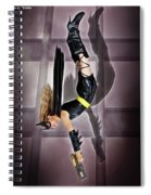 Attack Of The Bat Gal Spiral Notebook