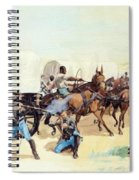 Attack On The Supply Train 1885 Spiral Notebook