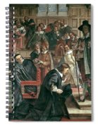 Attempted Arrest Of 5 Members Of The House Of Commons By Charles I Spiral Notebook