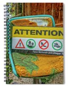 Attention Vernazza Trail Head Italy Dsc02657 Spiral Notebook